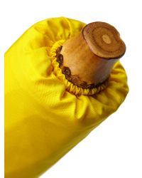 London Undercover - Yellow Classic Whangee Handle Umbrella - Lyst