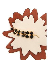 Marni - Multicolor Crystal-embellished Leather Brooch - Lyst