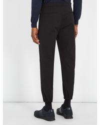 Prada - Black Mid-rise Slim-leg Track Pants for Men - Lyst