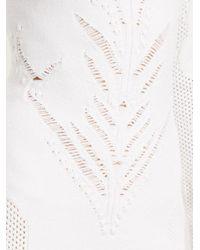 Balmain White Close-neck Mesh-knit Mini Dress