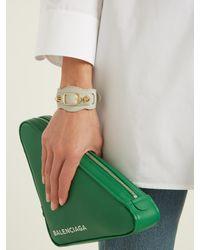 Balenciaga - Gray Classic Bracelet - Lyst