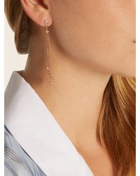 Jacquie Aiche - Metallic Diamond & Rose-gold Earring - Lyst