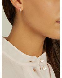 Loren Stewart - Multicolor Diamond, Topaz, Pearl & Yellow-gold Earrings - Lyst