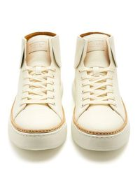 Buscemi - White 90mm Crepone High-top Leather Trainers for Men - Lyst