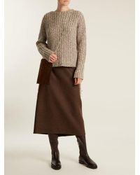 The Row - Brown Fiona Stretch-leather Knee-high Boots - Lyst