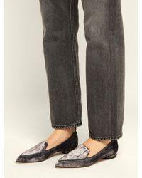 Nicholas Kirkwood - Purple Beya Crushed-velvet Loafers - Lyst