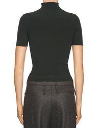 CALVIN KLEIN 205W39NYC - Black Brigitte Roll-neck Ribbed-jersey Sweater - Lyst