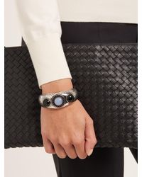 Bottega Veneta - Metallic Beaded Silver Cuff - Lyst