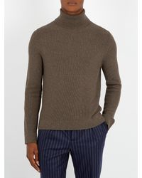 Boglioli | Multicolor Elbow-patch Roll-neck Wool Sweater for Men | Lyst