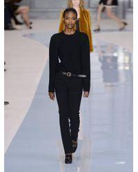 Chloé - Black Straight-leg Stretch-wool Trousers - Lyst