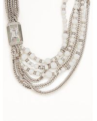 Lanvin - White Bow And Faux-pearl Embellished Necklace - Lyst