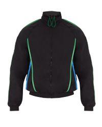 Cottweiler - Black Contrast-trim Nylon Track Jacket for Men - Lyst