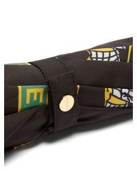 Burberry - Black Trafalgar Leather Handle Umbrella - Lyst