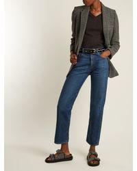 Isabel Marant - Black Zoa Studded Patent-leather Belt - Lyst