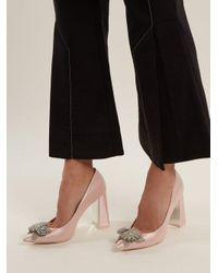 Sophia Webster - Pink Lilico Crystal-embellished Satin Pumps - Lyst