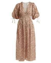 6ea8f7bd95 Lyst - Zimmermann Melody Leopard-print Linen Dress in Brown