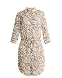 Heidi Klein - Natural Kalahari Zebra Print Poplin Shirtdress - Lyst