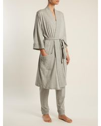 Skin | Gray Cotton-jersey Trousers | Lyst