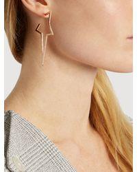 Diane Kordas | Metallic Diamond & Rose-gold Star Earring | Lyst