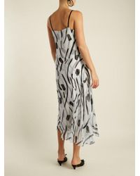 Diane von Furstenberg - Black Chatham-print V-neck Sleeveless Silk Dress - Lyst