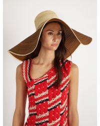 Sophie Anderson - Natural Corozon Pompom-embellished Raffia Hat - Lyst