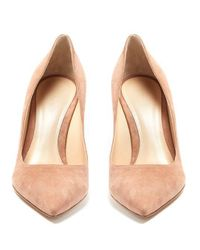 Gianvito Rossi - Natural Gianvito 85 Point-toe Suede Pumps - Lyst