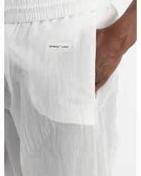 Off-White c/o Virgil Abloh - White Elasticated-waist Technical-cotton Track Pants for Men - Lyst