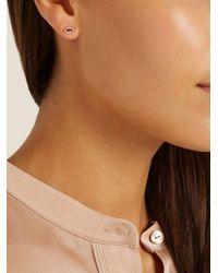 Ileana Makri - Metallic Diamond, Ruby & Rose-gold Earring - Lyst