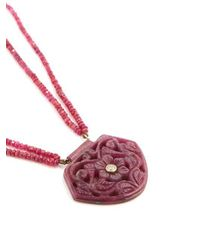 Jade Jagger - Red Diamond, Ruby & Yellow-gold Necklace - Lyst