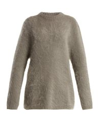 Raey - Gray Oversized Ethical Angora Blend Sweater - Lyst