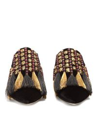 Sanayi 313 - Black Voltaire Velvet Slipper Shoes - Lyst