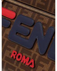 Fendi - Multicolor Pochette en toile enduite à appliqué logo Mania for Men - Lyst