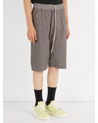 Rick Owens - Gray Short en coton, lin et laine Pod for Men - Lyst