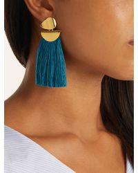 Lizzie Fortunato - Blue Crater Tassel Earrings - Lyst