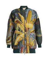 Adam Lippes Multicolor Eden-print Jacquard Bomber Jacket