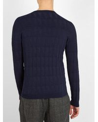 Giorgio Armani - Blue Crew-neck Sweater for Men - Lyst