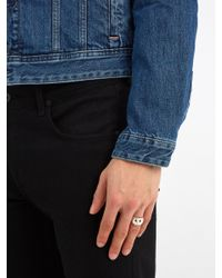 Aris Schwabe - Metallic Ruby-eyed Skull Sterling-silver Ring for Men - Lyst