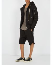 Rick Owens - Black Dropped-crotch Cotton-gabardine Shorts for Men - Lyst