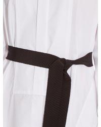 Maison Rabih Kayrouz - Black Mandarin Collar Cotton-poplin Dress - Lyst