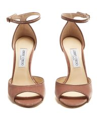 Jimmy Choo | Multicolor Annie 100mm Crushed-velvet Sandals | Lyst