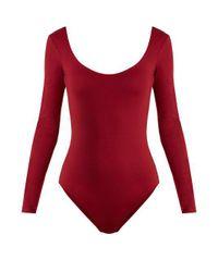 Gabriela Hearst - Red Ruth Jersey Body - Lyst