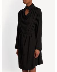 Vivienne Westwood Anglomania - Black Tondo Cowl-neck Draped Dress - Lyst