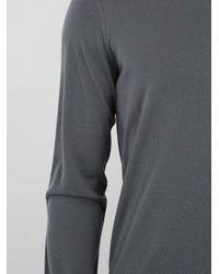 Giorgio Armani - Gray V-neck Wool Sweater for Men - Lyst