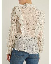Rebecca Taylor - Multicolor Star-print Silk-blend Blouse - Lyst