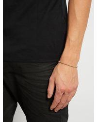 Luis Morais - Metallic Cotton And Yellow-gold Bracelet for Men - Lyst