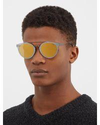Retrosuperfuture - Metallic Duo-lens Giaguaro Cat-eye Sunglasses for Men - Lyst