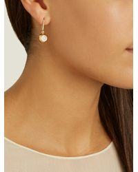 Aurelie Bidermann - Metallic Diamond & Yellow-gold Earrings - Lyst