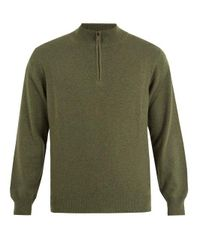 Thom Sweeney - Green Zip-up High-neck Cashmere Sweater for Men - Lyst