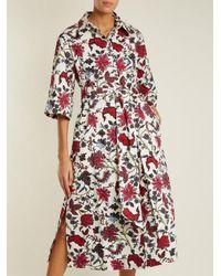 Diane von Furstenberg - White Canton-print Stretch-cotton Dress - Lyst
