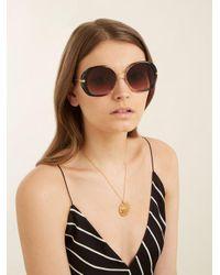 Céline - Brown Butterfly-frame Sunglasses - Lyst